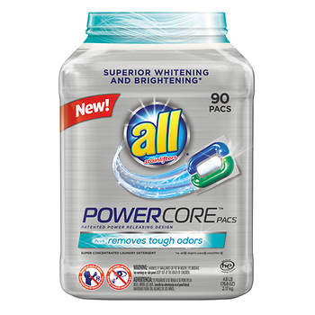 All Powercore Super Concentrated Laundry Detergent Pacs, 90 ct.
