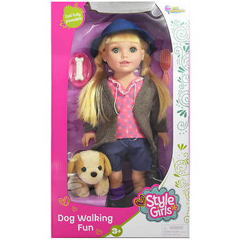 Style Girls Dogwalking Fun Doll - Assorted