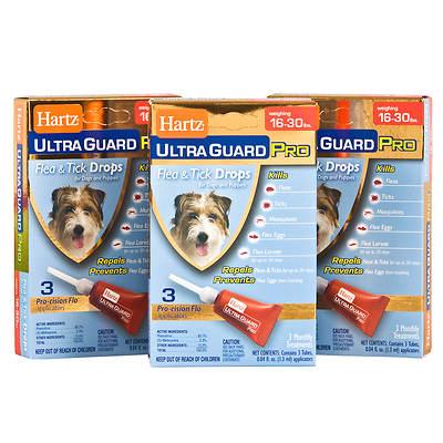 Hartz UltraGuard PRO Flea and Tick Drops for Dogs 16 0 30 lb. - 3 pk.