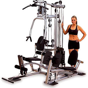 Powerline Home Gym with Functional Training Arms and Leg Press Attachment
