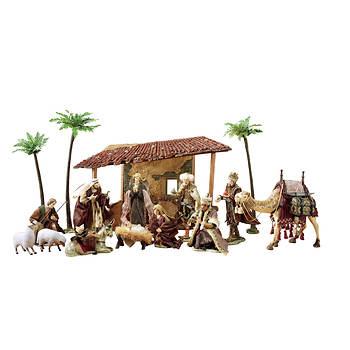 Berkley Jensen 16-Pc. Porcelain Nativity Scene