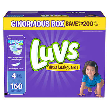 Luvs Size 4 Diapers - 160 Count