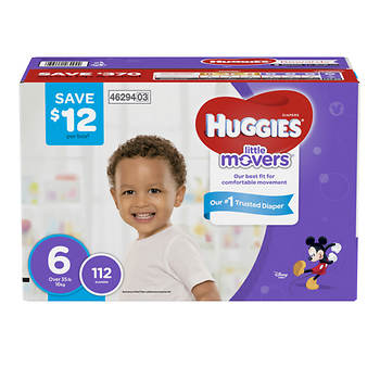 Huggies Little Movers Step 6 Diapers, 112 ct.