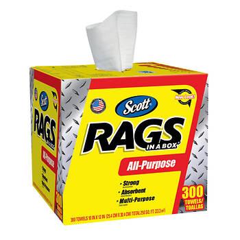 Scott Rags in a Box, 300 ct.