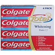 Colgate Total Advanced Whitening Toothpaste, 4 pk./5.8 oz.