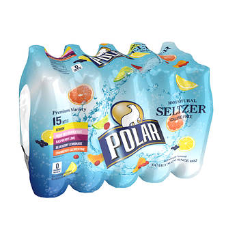 Polar Seltzer Variety Pack, 15 ct./1L
