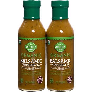 Wellsley Farms Organic Balsamic Dressing, 2 pk./12 oz.