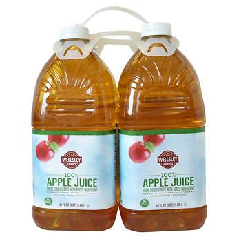 Wellsley Farms Apple Juice, 4 pk./64 fl. oz.