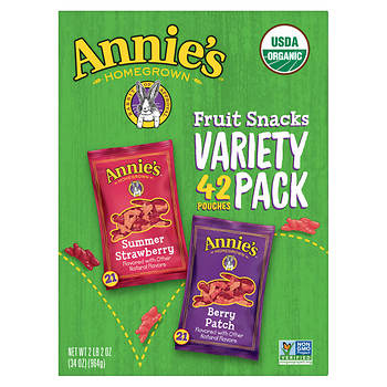Annie's Organic Fruit Snacks Variety Pack, 42 ct.