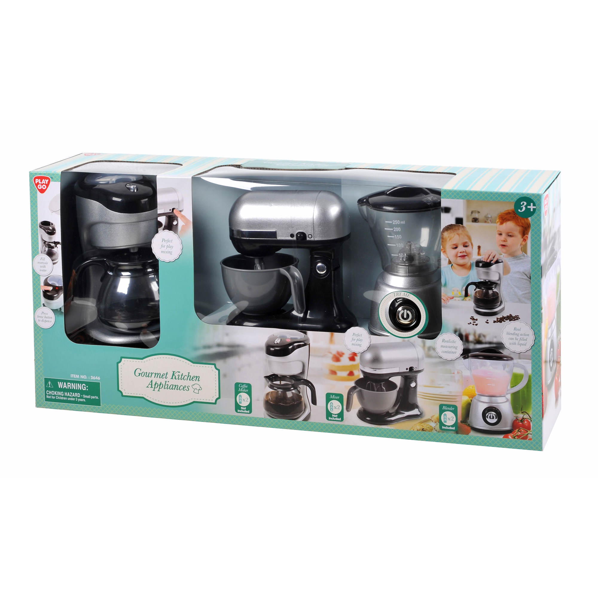 Uncategorized Toy Kitchen Appliances pretend kitchens bjs wholesale club playgo 3 pc gourmet kitchen appliance set