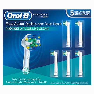 Oral-B Replacement Electric Toothbrush Heads, 5 Count