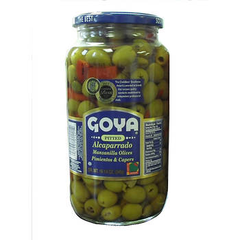Goya Alcaparrado Pitted Olives, Pimientos and Capers, 20 oz.