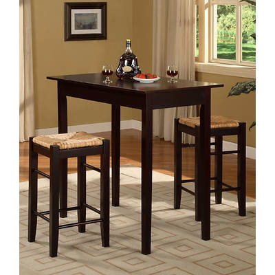 Linon Tavern 3-Piece High Dining Set - Espresso