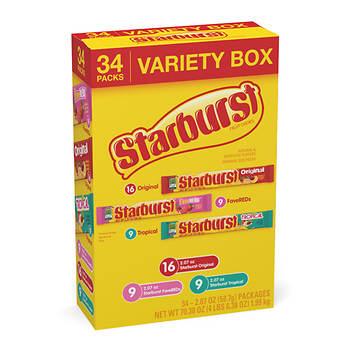 Starburst Variety Pack, 34 ct.