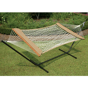 Castaway by Pawleys Island Cotton Rope Hammock with Pillows