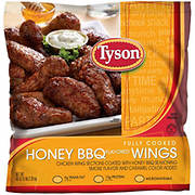 Tyson Fully Cooked Honey Barbecue Flavored Wings, 5 lbs.