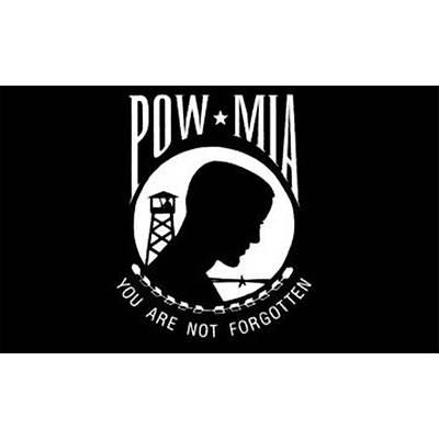 Annin 3' x 5' POW MIA Black S/R Flag