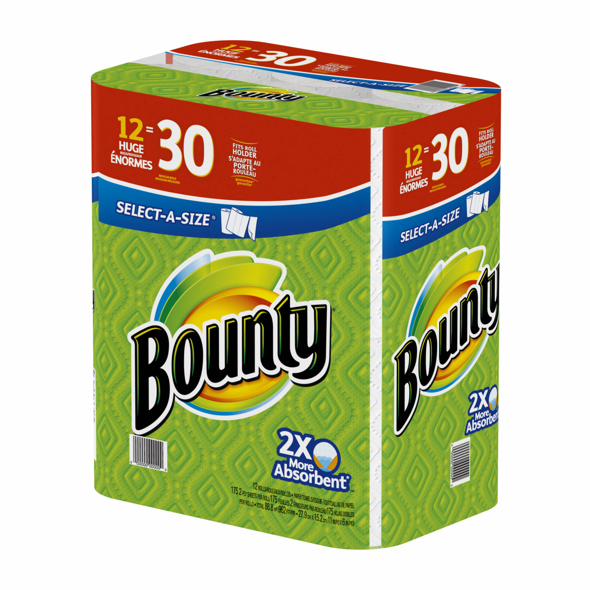 Bulk Bounty Paper Towels Wholesale: Bounty Select A Size Paper Towels, White, 12 Huge Rolls