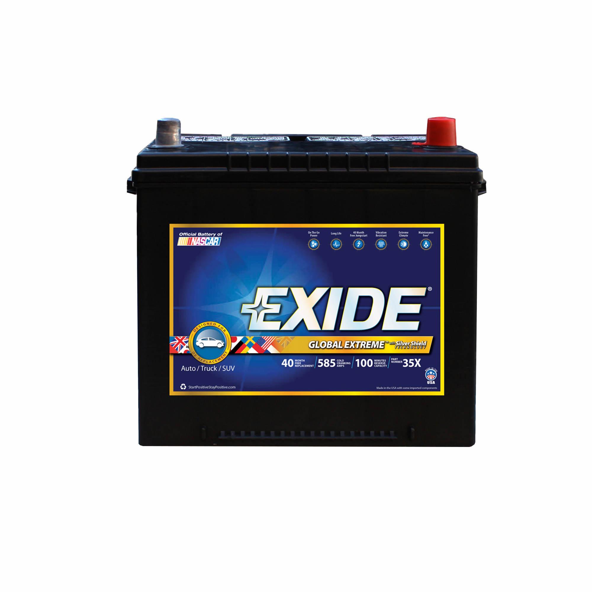 automotive batteries bj s whole club exide premium extreme global 35x auto battery