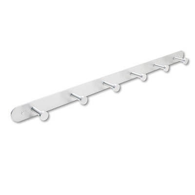 Safco 6-Hook Nail Head Wall Coat Rack (Satin Aluminum)