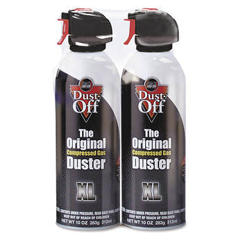 Dust-Off 10-oz. Disposable Compressed Gas Duster, 2 pk.