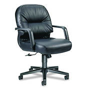 HON Leather 2090 Pillow-Soft Series Managerial Mid-Back Swivel/Tilt Ch