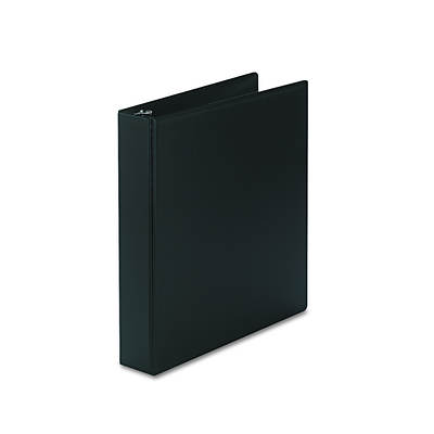 "Avery Durable EZ-Turn Ring Reference Binder, 8-1/2"" x 11"", 1-1/2"" Capacity (Black)"