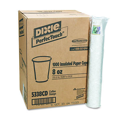 Dixie Hot 8 Oz. Paper Cups, 1,000 per Carton - Coffee Dreams Design