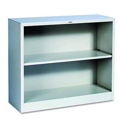 HON 2-Shelf Metal Bookcase (Light Gray)
