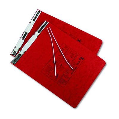 "ACCO Pressboard Hanging Data Binder, 9-1/2"" x 11""Unburst Sheets (Executive Red)"