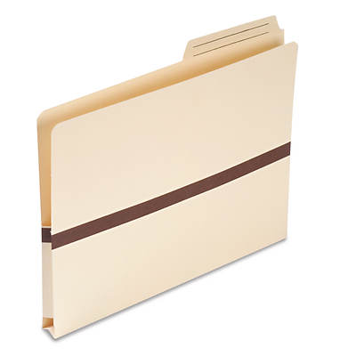 "Smead 1"" Expansion File Pocket with 2/5 Tab, Letter - Manila"