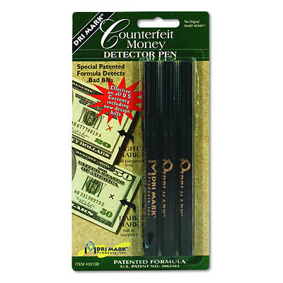 Dri-Mark Smart Money Counterfeit Bill Detector Pen for Use with U.S. Currency, 3/Pack