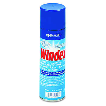Windex Powerized Formula Glass & Surface Cleaner, 20 Oz. Aerosol, 12 Cans per Carton