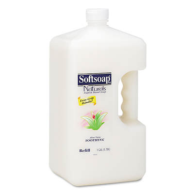 Softsoap Naturals Moisturizing Hand Soap with Aloe Vera, 1 Gallon Bottle, 4 Bottles per Carton