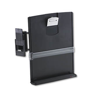 3M Adjustable Monitor Mount Clip Copyholder - Black