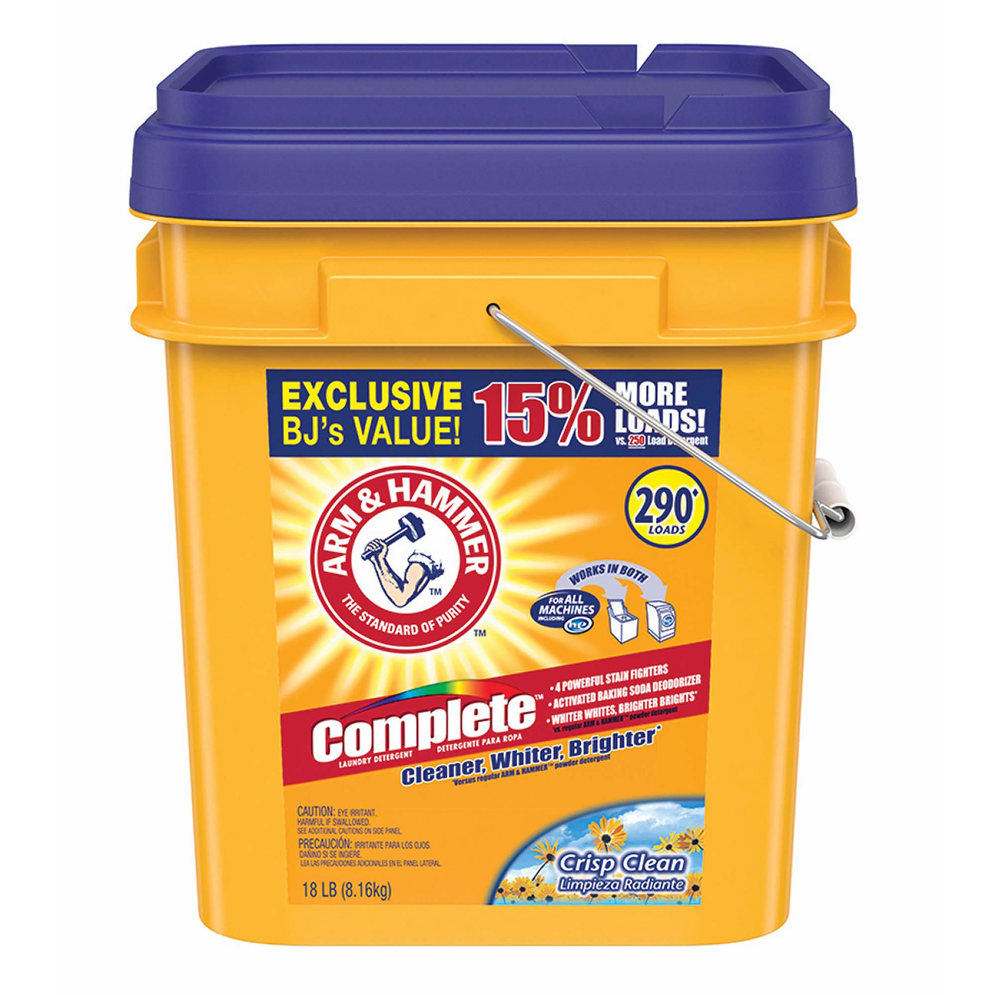 arm hammer complete powder detergent  gal bjs wholesale club