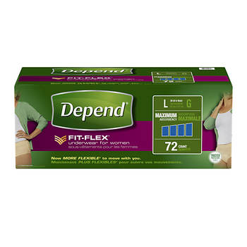 Depend Large Extra Absorbency Underwear for Women - 72 ct.