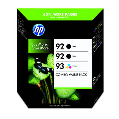 HP CB310BN 92 Black and 93 Tricolor Inkjet Cartridge Combo Pack