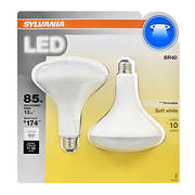 Sylvania 85W Equivalent LED BR40 Lamp Light Bulb, 2 pk. - Soft White