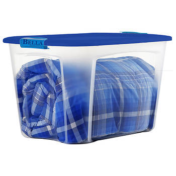 Bella Storage Solutions 40-Gal. Locking Tote - Blue