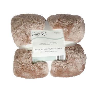 Truly Soft High-Pile Fleece Throw - Assorted