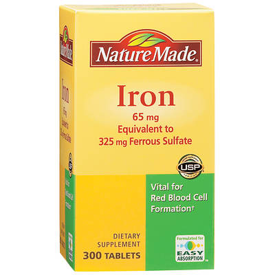 Nature Made 65mg Iron Tablets - 300 Count