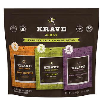 Krave Jerky Variety Pack, 8 pk./1.5 oz.
