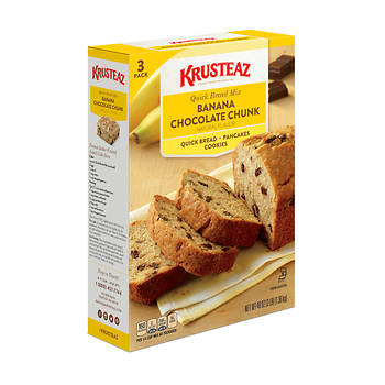 Krusteaz Banana Chocolate Chunk Quick Bread Mix, 1 lb./3 pk.