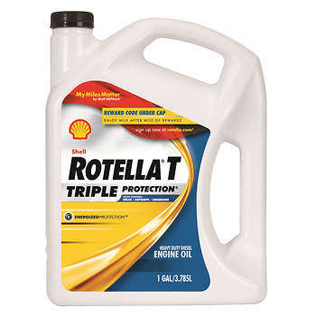 Shell 15W-40 Rotella T Triple Protection Action Heavy-Duty Diesel Engine Oil, 1 Gallon, 6 pk.