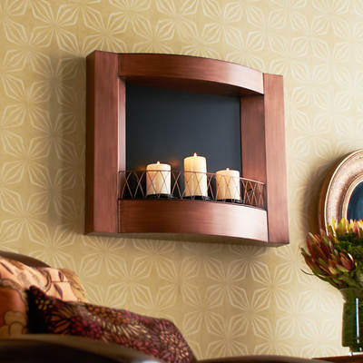 Wall-Mount Gel Fuel Fireplace - Copper