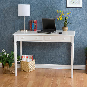 2-Drawer Writing Desk - Crisp White