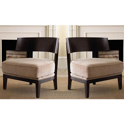 Abbyson Living Kensington Accent Chairs, Set of 2 - Espresso