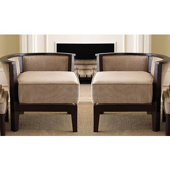 Abbyson Living Kensington Corner Accent Chairs, Set of 2 - Espresso