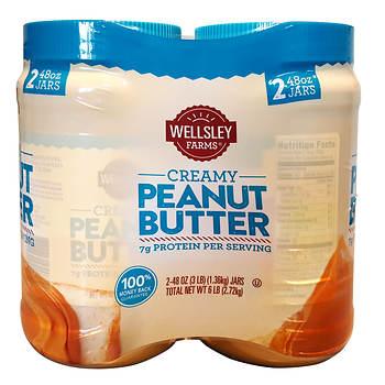 Wellsley Farms Creamy Peanut Butter, 2 pk./48 oz.